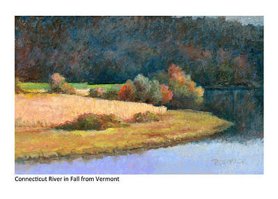 Painting - Connecticut River In Fall From Vermont by Betsy Derrick
