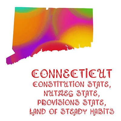 Digital Art - Connecticut State Map Collection 2 by Andee Design