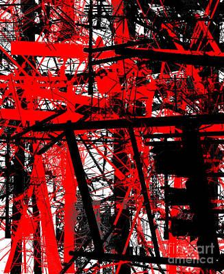 Telephone Poles Digital Art - Connection 44 by Brandon Lynch
