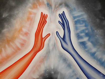 Radiating Chakra Painting - Connection by Karen Kliethermes