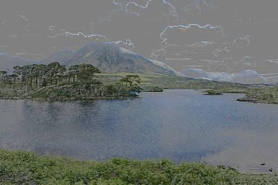 Connemara Digital Art - Connemara Eire Airbrush by Glenn Cuddihy