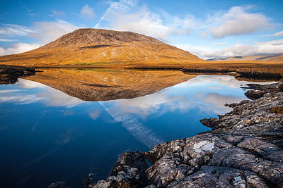 Photograph - Connemara Landscape Reflection by Pierre Leclerc Photography