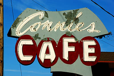 Photograph - Connie's Cafe Neon by Daniel Woodrum