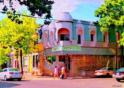Connie's Pizza Beautiful Streets Of Pointe St Charles Urban Art Montreal City Scenes Carole Spandau Art Print
