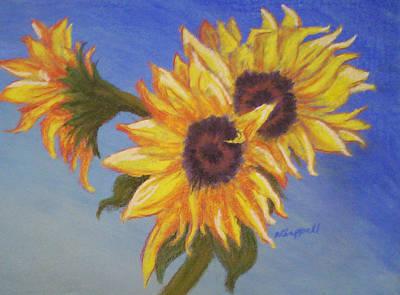 Connies Sunflowers Art Print