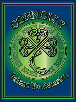Digital Art - Connolly Ireland To America by Ireland Calling