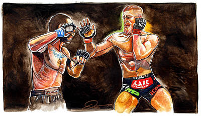 Conor Painting - Conor Mcgregor by Dave Olsen