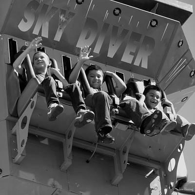 Bravado Photograph - Conquering Sky Divers by Lin Haring