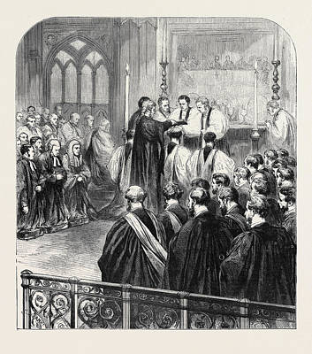 Westminster Abbey Drawing - Consecration At Westminster Abbey, 1870, London by English School