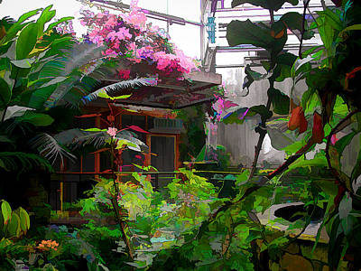 Photograph - Conservatory At The Fort Worth Botanic Garden by Janet Maloy