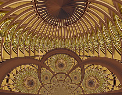 Digital Art - Conservatory - Carmelized by Wendy J St Christopher