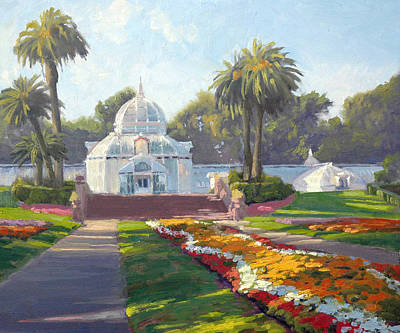 Golden Gate Park Painting - Conservatory Of Flowers - Golden Gate Park by Armand Cabrera