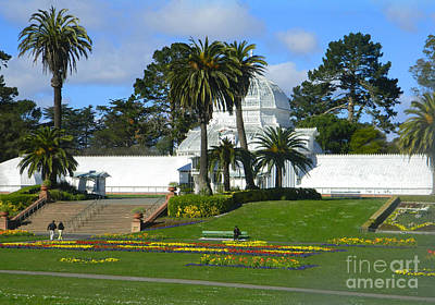 Bay Area Digital Art - Conservatory Of Flowers - San Francisco by Emmy Vickers