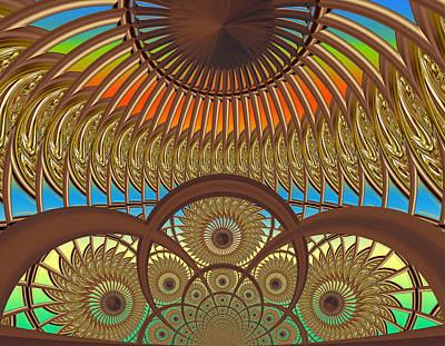 Conservatory - Sunset Art Print by Wendy J St Christopher