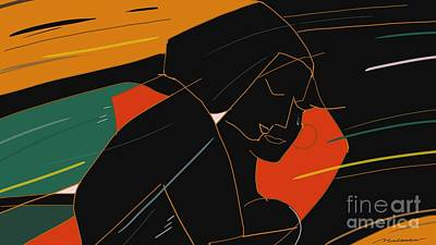 Painting - Consoling by Vilas Malankar