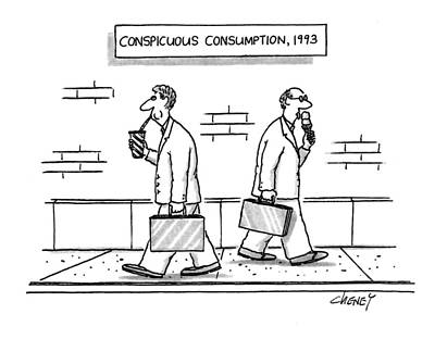 Consumption Drawing - Conspicuous Consumption by Tom Cheney