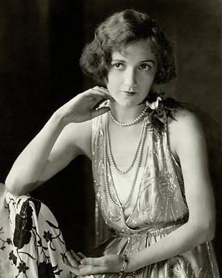 1920s Fashion Photograph - Constance Talmadge Wearing A Dress by Edward Steichen
