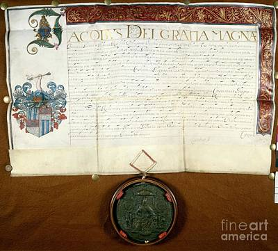 Knighthood Photograph - Constantijn Huygens Knighthood 1622 by Spl