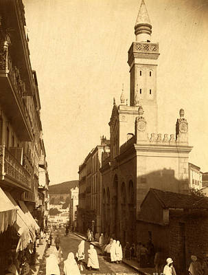 Berber Woman Photograph - Constantine, National Mosque Street, Algiers, Neurdein by Litz Collection