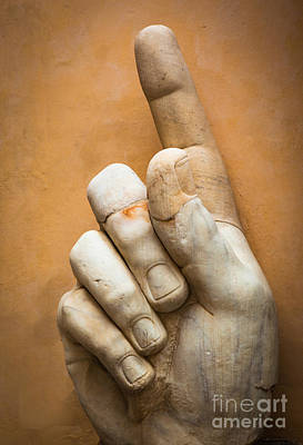 Capitoline Photograph - Constantine's Finger by Inge Johnsson