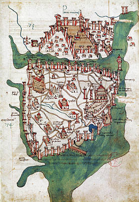 Byzantine Photograph - Constantinople, 1420 by Granger