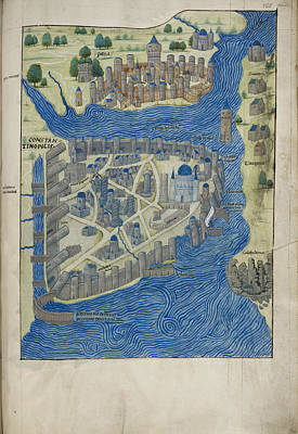 Constantinople Photograph - Constantinople And Pera by British Library