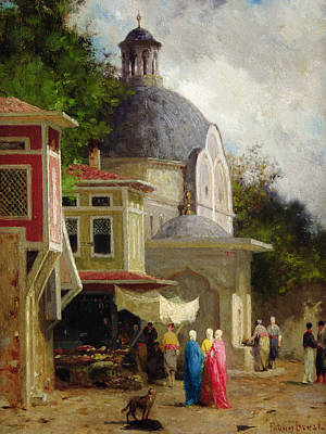 Ottoman Painting - Constantinople by Fabius Brest