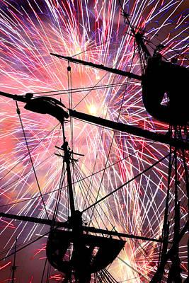 Pyrotechnics Digital Art - Constellation Fourth by Mike Flynn