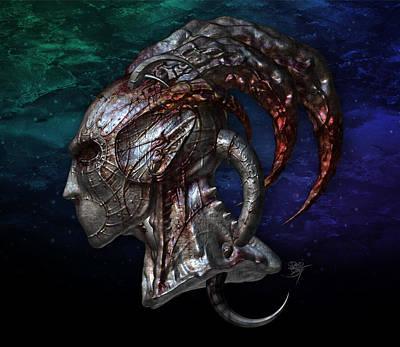 Reaper Digital Art - Constellation Mask by David Bollt