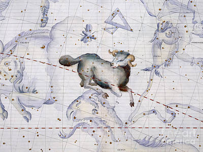 Geographical Painting - Constellation Of Aries by Sir James Thornhill