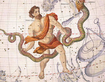 Contours Painting - Constellation Of Ophiucus And Serpens by Sir