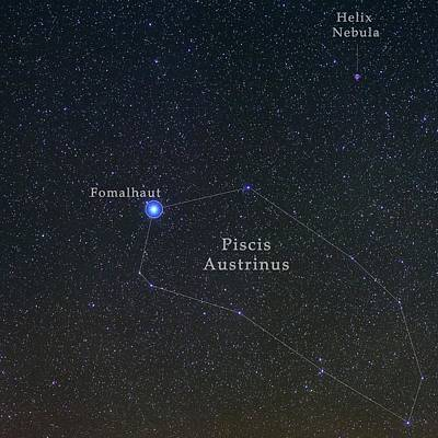 Constellation Piscis Austrinus Art Print