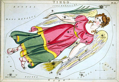 Photograph - Constellation: Virgo, 1825 by Granger