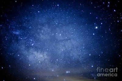 Constellations And Milky Way Art Print by Thomas R Fletcher