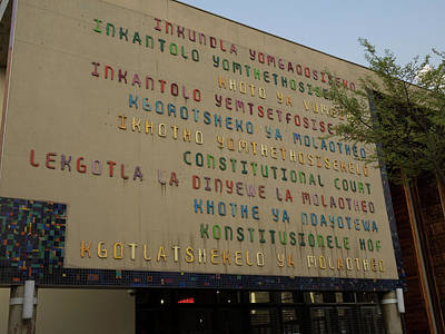 Johannesburg Photograph - Constitutional Court Signage In All by Panoramic Images