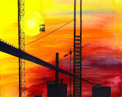 Painting - Constructing A City by Vic Delnore