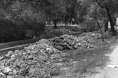 Delhi Photograph - Construction Debris On Both Sides Of A Drain In The Delhi Zoo by Ashish Agarwal