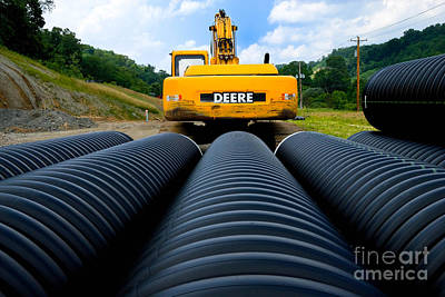 Construction Excavator Print by Amy Cicconi
