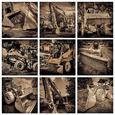 Photograph - Construction Collage-2 by Rudy Umans