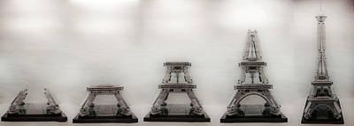 Construction Of Lego Eiffel Tower Art Print