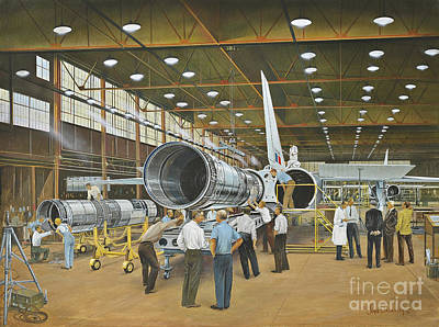 Construction Of The Dh.98 Mosquito Art Print by TriFocal Communications
