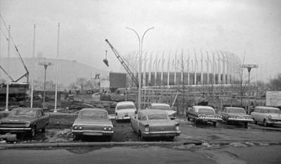 Photograph - Construction Of The Ford Rotunda by John Schneider
