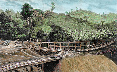 Construction Of The Panama Canal Art Print by Prisma Archivo