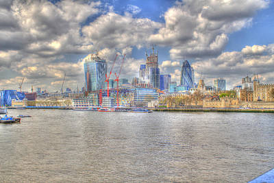 Construction Sites In The City Of London Print by Ash Sharesomephotos