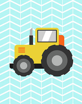 Construction Truck I Art Print by Tamara Robinson
