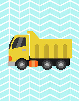 Construction Truck II Art Print by Tamara Robinson