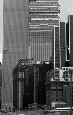 Photograph - Construction Twin Towers by John Schneider