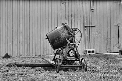 Landscaper Photograph - Construction - Vintage Cement Mixer by Paul Ward