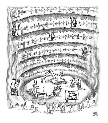 Donald Drawing - Construction Work In Hell by Paul Noth