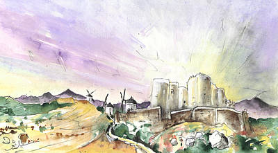 Castle Drawing - Consuegra 04 by Miki De Goodaboom
